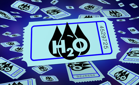 Water H20 Drinkable Clean Resource Ticket Enter to Win 3d Illustration