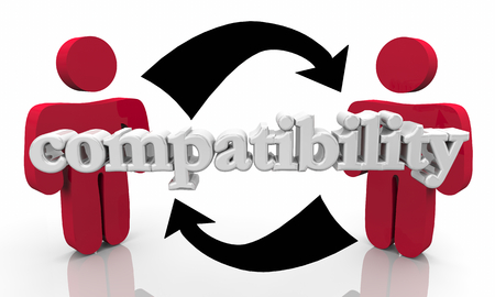 Compatibility Good Match Two People Partnership 3d Illustration Stock Photo