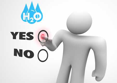 Water H20 Drinkable Clean Resource Person Choose Vote Election 3d Illustration