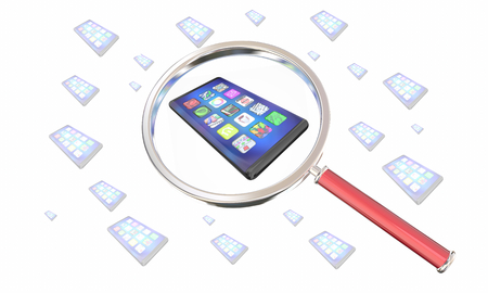 New Smart Phone Cell Magnifying Glass Find Best Deal Model 3d Illustration