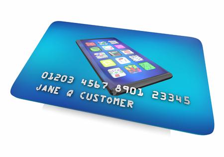 New Smart Phone Cell Credit Card Borrow Money Buy 3d Illustration