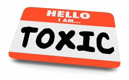 Toxic Poisonous Dangerous Warning Name Tag 3d Illustration