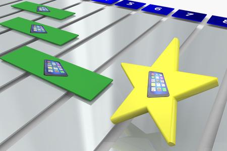 New Smart Phone Cell Task Job Assignment Plan 3d Illustration