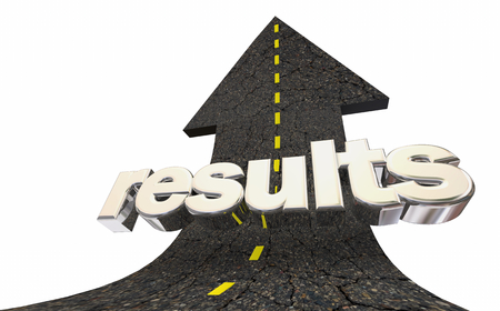 Results Outcome Successful Achievement Road Arrow Up Word 3d Illustration 版權商用圖片 - 124716067