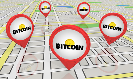 Bitcoin Cryptocurrency Digital Money Magnet Attracting Customers Shoppers 3d Illustration