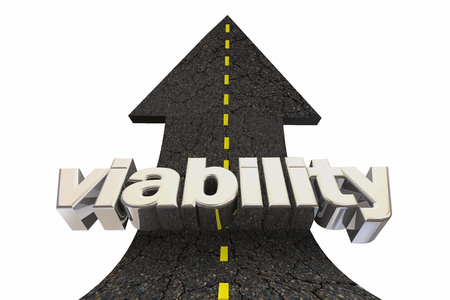 Viability Possible Solution Viable Outcome Road Arrow Up Word 3d Illustration