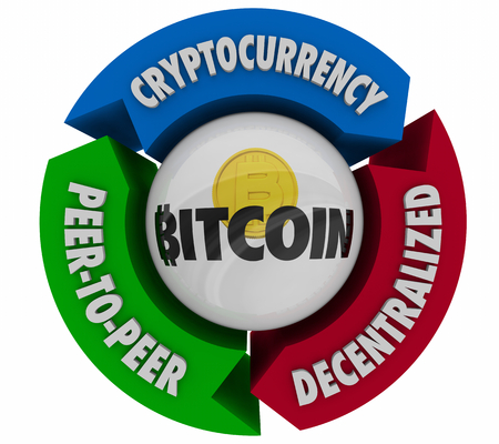 Bitcoin Cryptocurrency Digital Money Process Buy Sell 3d Illustration Zdjęcie Seryjne