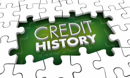 Credit History Score Puzzle Pieces Hole Gap 3d Illustration