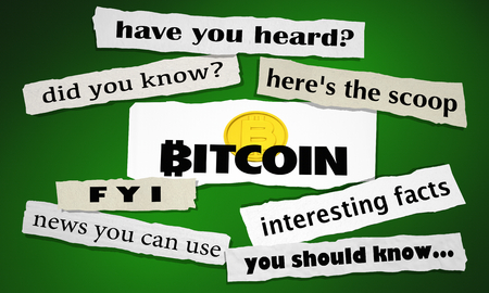 Bitcoin Cryptocurrency Digital Money Newspaper Headlines Big News 3d Illustration
