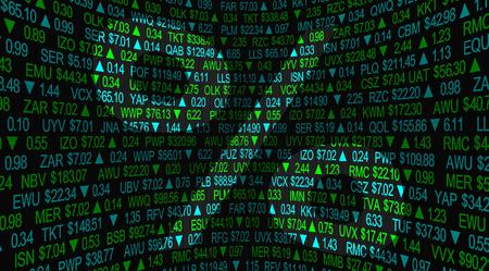 Prozentzeichen Anstieg Rückgang Anstieg Fallpreise Aktienmarkt 3D-Darstellung Standard-Bild