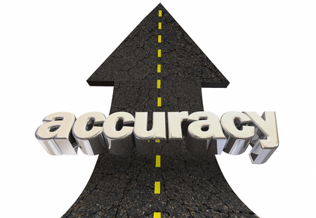 Accuracy Improve Correct Answers Percentage Road Arrow Up Word 3d Illustration