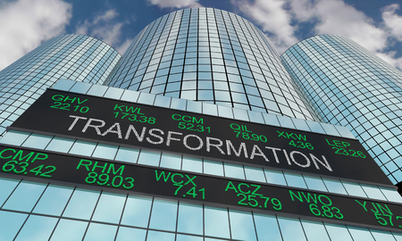 Transformation Revolution Change Business Stock Market 3d Illustration