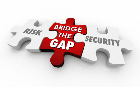 Risk Vs Security Safety Puzzle Pieces Words 3d Illustration