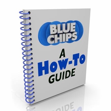 Blue Chips Top Goals Priorities How to Guide Instruction Manual Book 3d Illustration