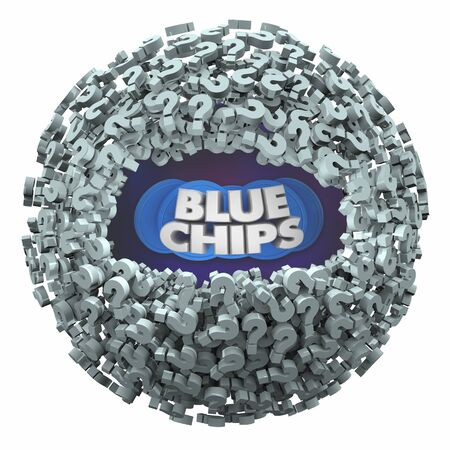Blue Chips Top Goals Priorities Questions Answers FAQs 3d Illustration