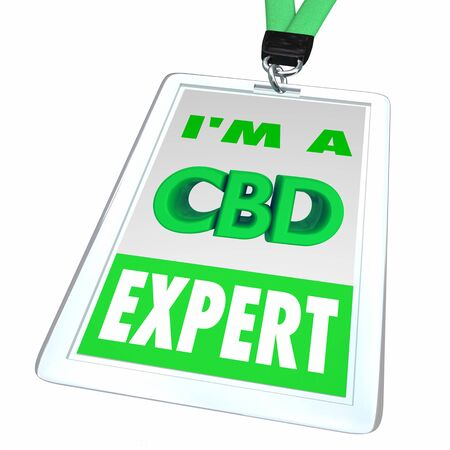 CBD Cannabidiol Marijuana Cannabis Name Badge Expert Employee Dealer 3d Illustration