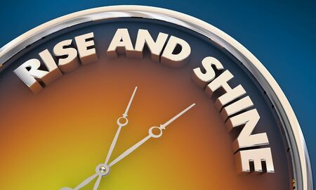 Rise and Shine Good Morning Wake Up Time Clock 3d Illustration