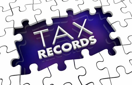Tax Records Missing Puzzle Pieces Hole Gap 3d Illustration