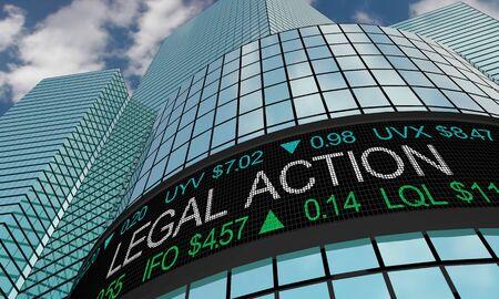 Legal Action Law Sue Business Company Stock Market 3d Illustration