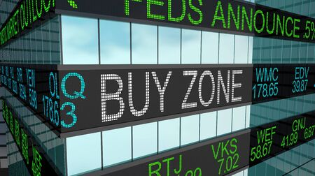 Buy Zone Stock Market Great Deals Low Price 3d Illustration