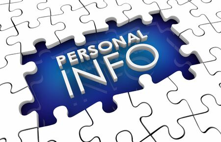 Personal Info Missing Fill in Puzzle Pieces Hole Gap 3d Illustration
