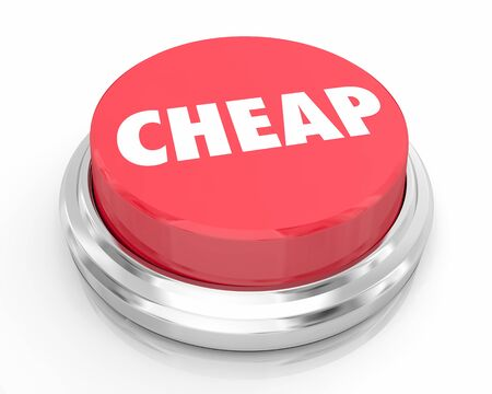 Cheap Low Price Quality Sale Clearance Button 3d Illustration