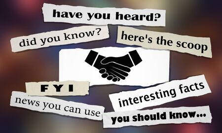 Handshake Agreement Shaking Hands Newspaper Headlines 3d Illustration Foto de archivo - 126206131