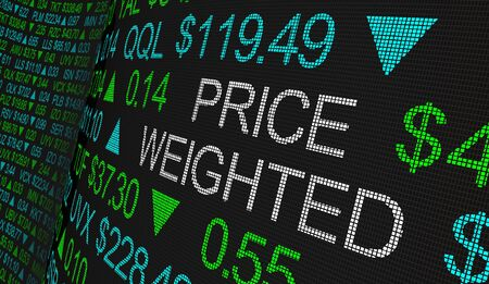 Price Weighted Average Stock Share Business Buy 3d Illustration Foto de archivo - 126206155