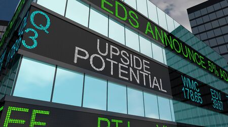 Upside Potential Growth Opportunity Stock Market Investment 3d Illustration