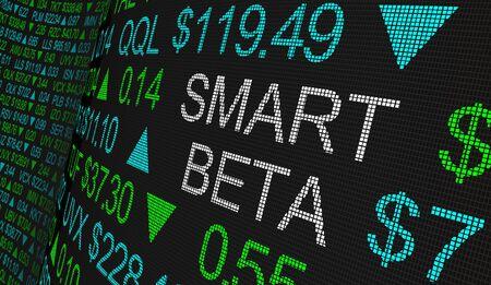 Smart Beta Stock Marketing Investment Strategy 3d Illustration