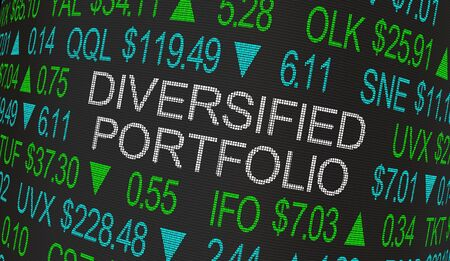 Diversified Portfolio Stock Market Investment Strategy 3d Illustration Stock fotó