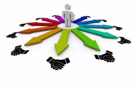 Handshake Agreement Shaking Hands Person Choosing Best Partnership 3d Illustration Foto de archivo - 126206172