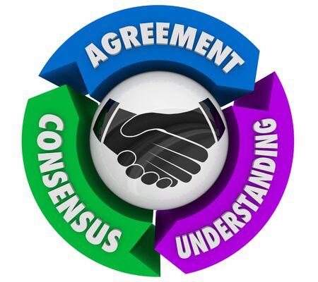 Handshake Agreement Shaking Hands Understanding Consensus 3d Illustration Foto de archivo - 126206173