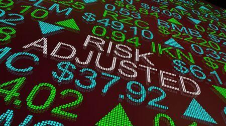 Risk Adjusted Stock Market Buy Strategy Investment 3d Illustration Foto de archivo - 126913753
