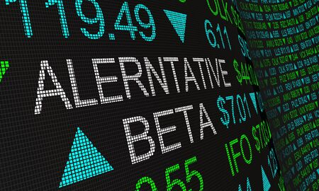 Alternative Beta Strategy Stock Market Investing 3d Illustration Banque d'images