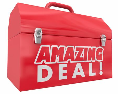 Amazing Deal Big Savings Sale Discount Save Money Toolbox Resources 3d Illustration