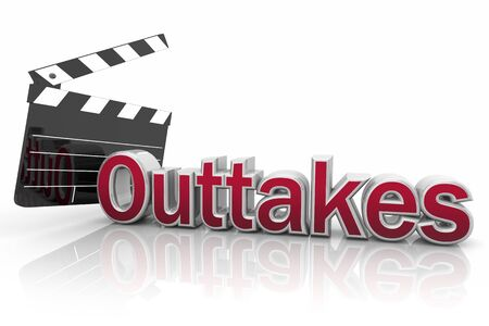 Outtakes Bloopers Mistakes Errors Movie Film Clapper 3d Illustration