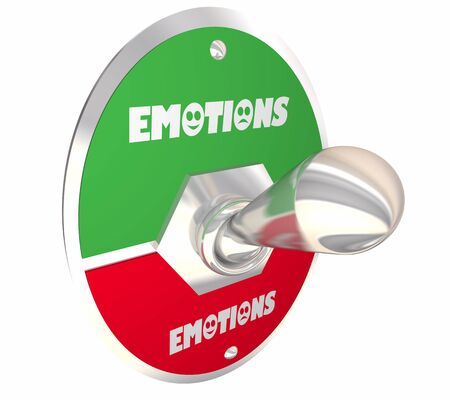 Emotions Feelings Switch Lever Good Bad Bipolar 3d Illustration