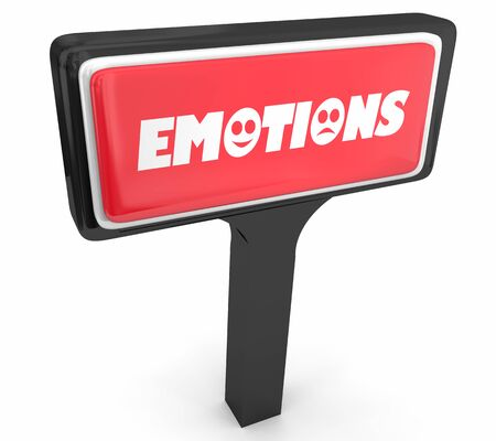 Emotions Sign Store Meeting Support Group 3d Illustration