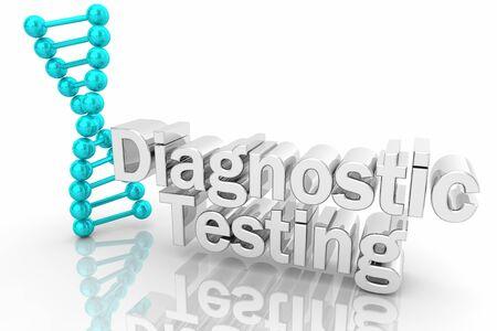 Diagnostic Testing DNA Biology Lab Results 3d Illustration