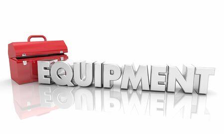 Equipment Toolbox Resources Word 3d Illustration 版權商用圖片