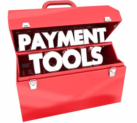 Payment Tools Resources Toolbox Words 3d Illustration