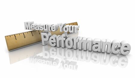 Measure Your Performance Results Ruler Words 3d Illustration Фото со стока