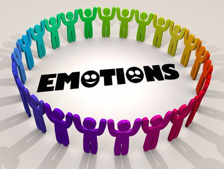 Emotions Feelings Experience Group Therapy Session People 3d Illustration
