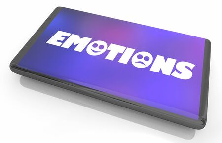 Emotions Feelings Experiences Phone App Software 3d Illustration