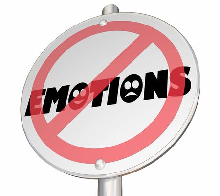 Emotions Feelings Experience No Allowed Sign 3d Illustration Stockfoto