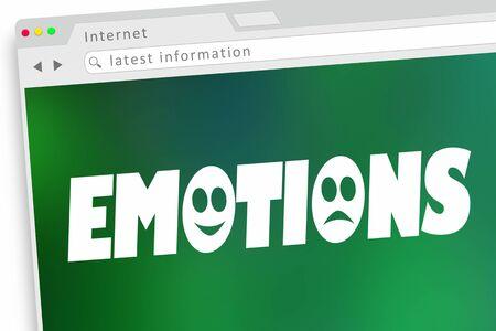 Emotions Feelings Sharing Internet Online Word 3d Illustration