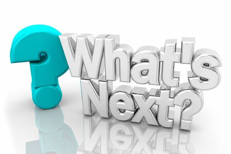 Whats Next Question Mark Coming Soon Future 3d Illustration