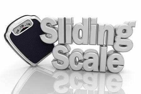 Sliding Scale Measurement Metrics Weight 3d Illustration