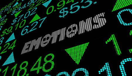 Emotions Feelings Stock Market Irrational Buying Selling Shares 3d Illustration